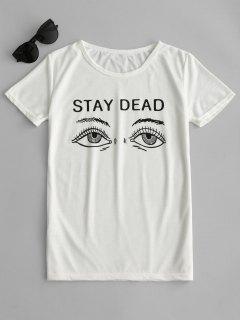 Graphic Short Sleeve T-shirt - White L