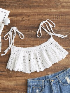 Ties Crochet Cover-up - White