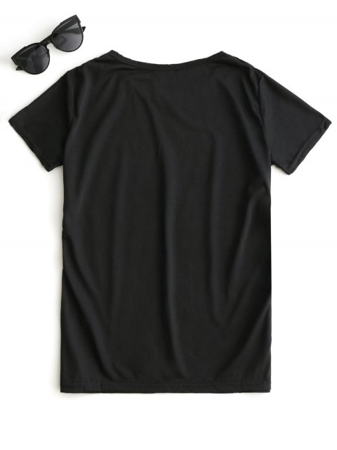 new Graphic Short Sleeve T-shirt - BLACK XL Mobile