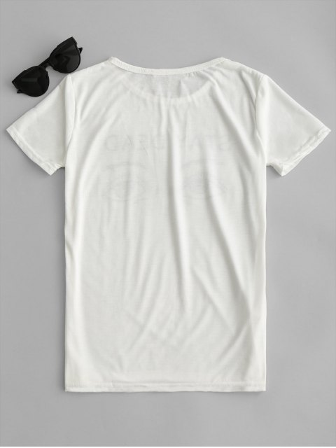outfit Graphic Short Sleeve T-shirt - WHITE L Mobile