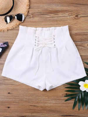Hohe Taille Lace Up Shorts