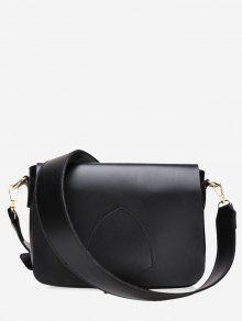 حقيبة كروسبودي صغيرة من الجلد المزيف - أسود