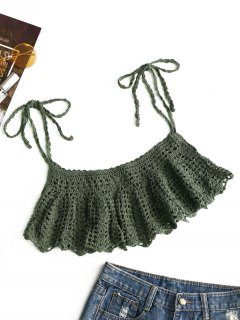 Ties Crochet Cover-up - Army Green