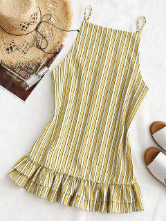 Shift Stripes Rüschen Minikleid - Streifen  Xl