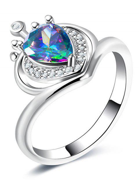 sale Valentine's Day Rhinestone Heart Finger Ring -   Mobile
