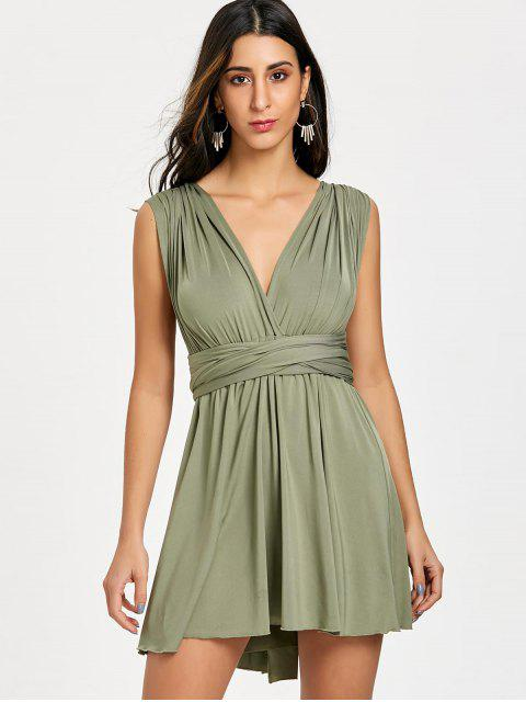 womens Mini Convertible Dress - GREEN XL Mobile