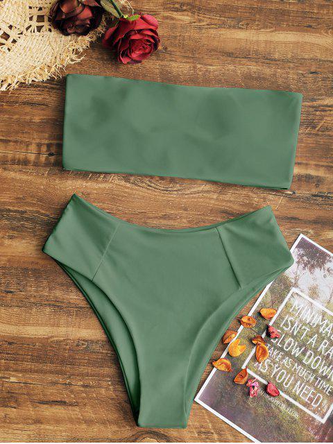 Maillot de bain bandeau coupe haute - Vert Armée  M Mobile