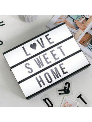 Valentine's Day Gift Creative LED DIY Letter Light Box
