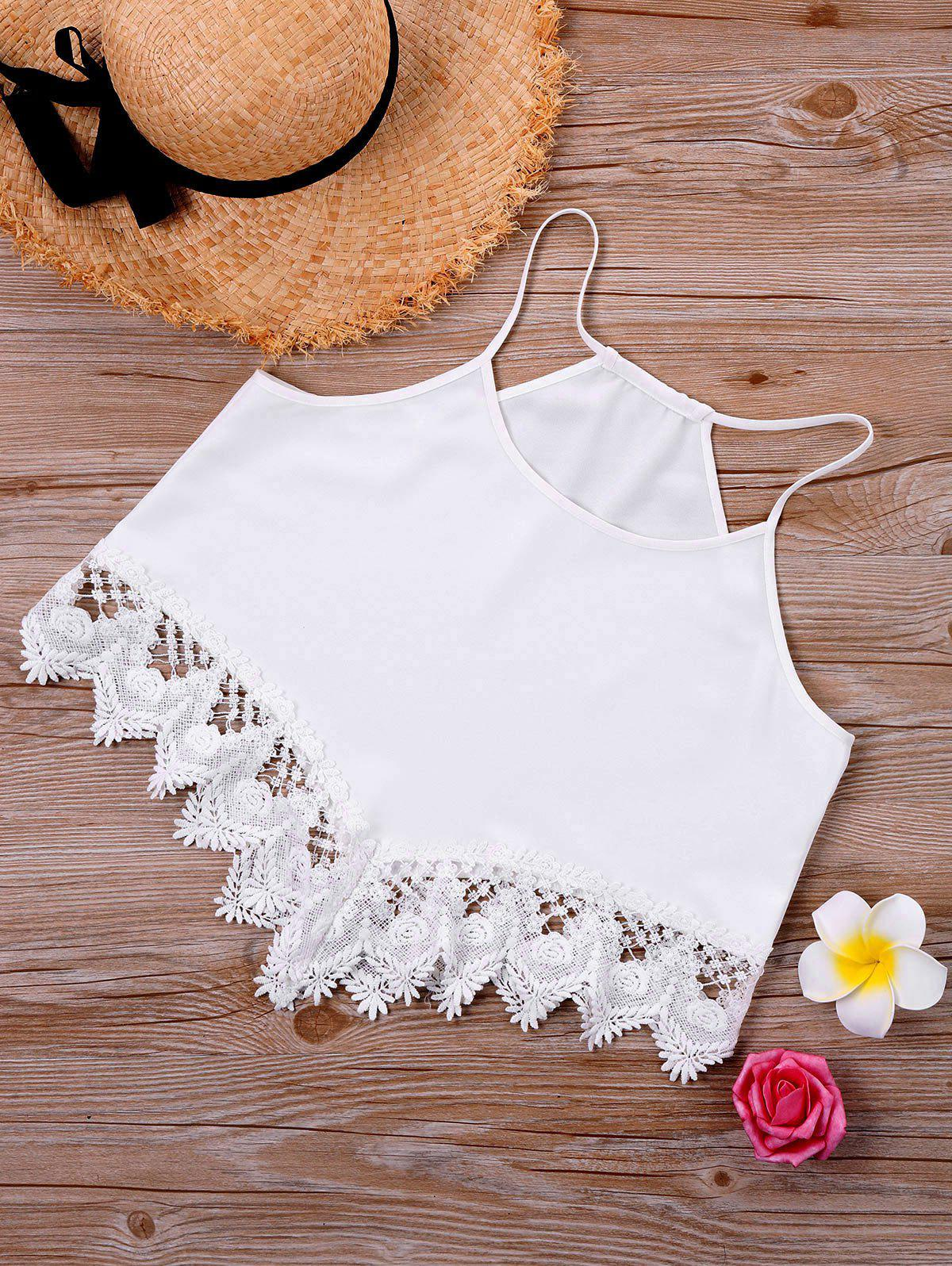Lace Trim Cami Top 245000404