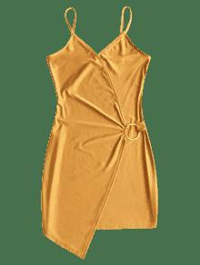 Xl T Con De Bodycon Junta Amarillo 243;rica Vestido Slip 81BnqFx7R