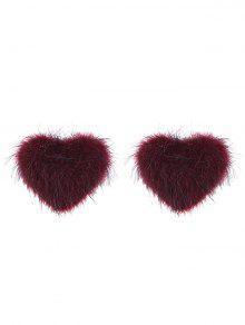 ضبابي فالنتين  'ق القلب وأقراط - نبيذ أحمر