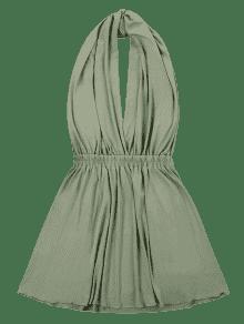 Convertible Verde Mini Vestido Vestido L Convertible Mini xITFZ