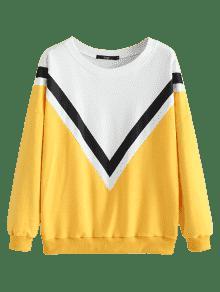 De Amarillo Sudadera Colores S Bloque De Sueltos WOdqBf1