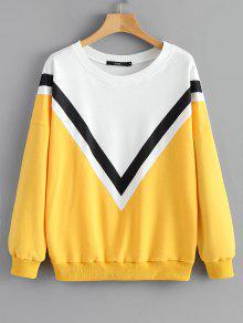 S De Sudadera De Sueltos Amarillo Bloque Colores x88PYqWgn