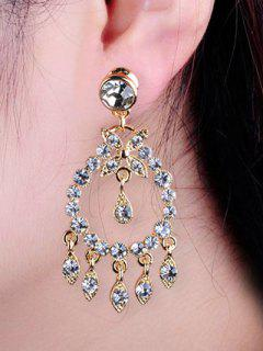 Boucles D'oreilles En Forme De Goutte En Faux Diamants - Or
