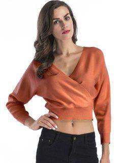 Surplice Short Sweater - Pearl Kumquat Xl