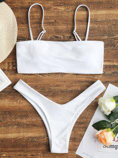 High Cut Cami Bikini Set - White L