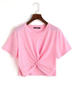 Cotton Twist Cropped Top - Pink M