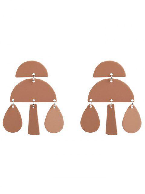 new Unique Teardrop Geometric Earrings - CAMEL  Mobile