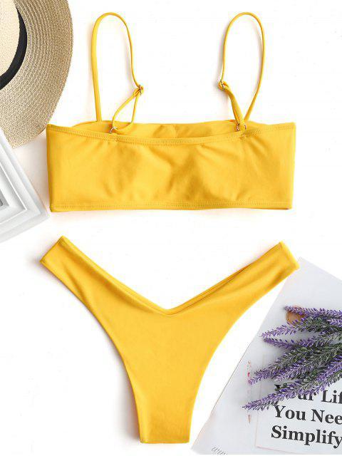 Bikini Cami De Corte Alto - Amarillo S Mobile