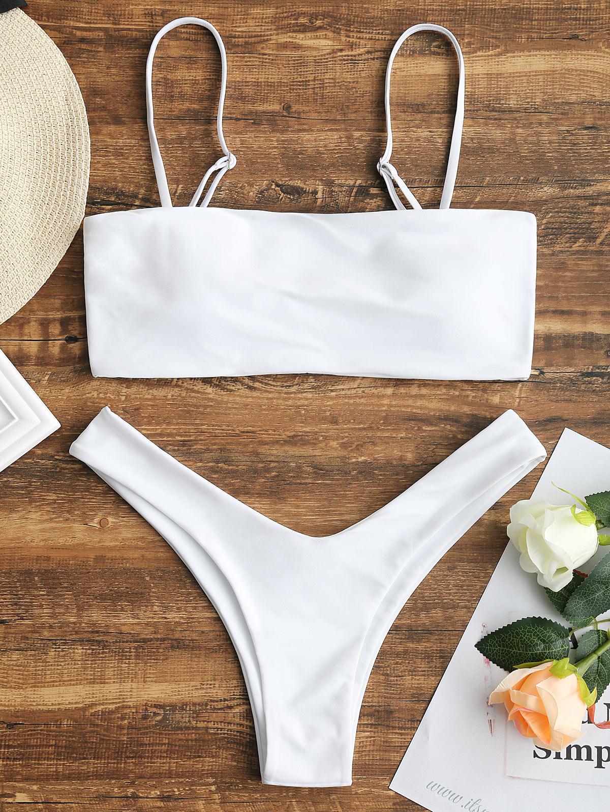 Zaful coupon: High Cut Cami Bikini Set
