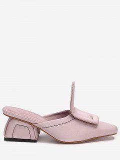 Mid Heel Stitching Loafers - Papaya 40