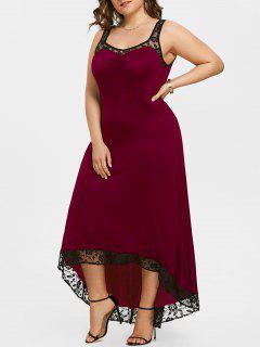 Robe De Soirée Longue Taille Haute - Rouge Vineux  5xl