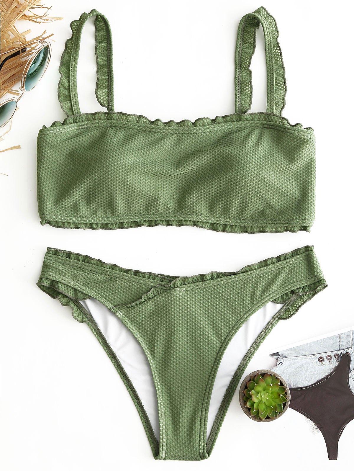 Ruffle Padded Bikini Set 249614002