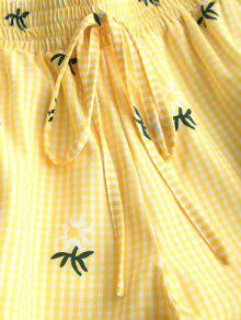 Conjunto Corto 243;n S Smocked Tubo Amarillo De Pantal De Tree Top De Y Palm tSqtr