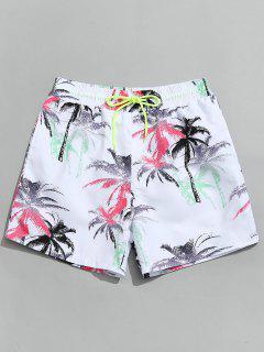 Coconut Palm Beach Board Shorts - White L