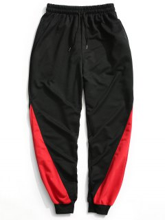 Two Tone Jogger Pants - Black L