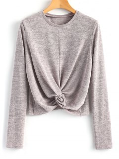 Knitted Heather Twist Top - Smashing S