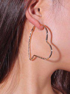 Pendientes De Aro Asimétricos Con Forma De Corazón - Dorado