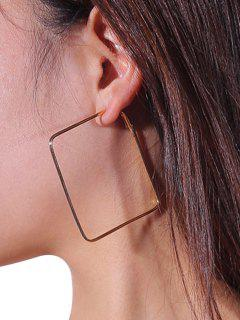 Boucles D'oreilles Uniques En Alliage Rectangle - Or