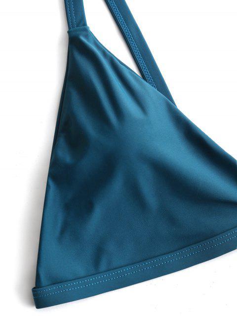 Ensemble Bikini Paddé à Taille Haute Grande Taille - Vert Malachite 3XL Mobile