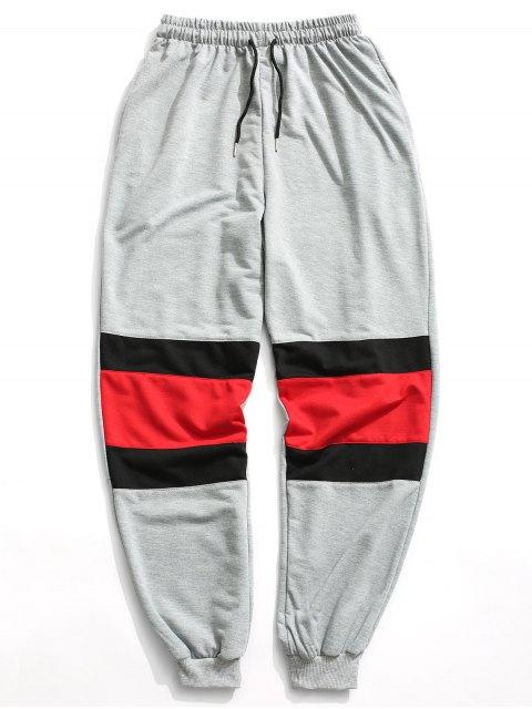 women's Color Block Jogger Pants - GRAY XL Mobile