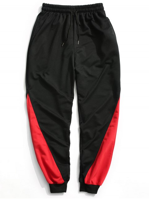 new Two Tone Jogger Pants - BLACK 2XL Mobile