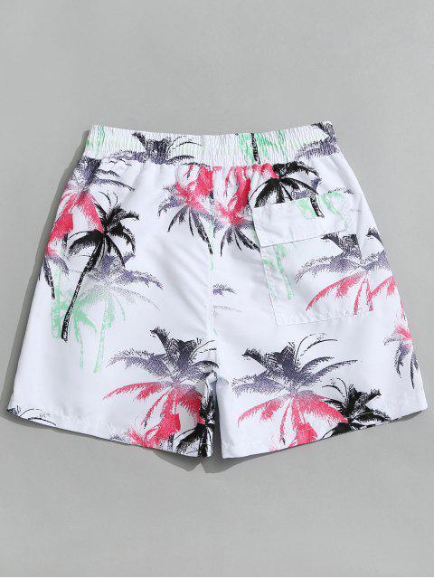 Pantalones cortos de la Junta de Coco Palm Beach - Blanco M Mobile
