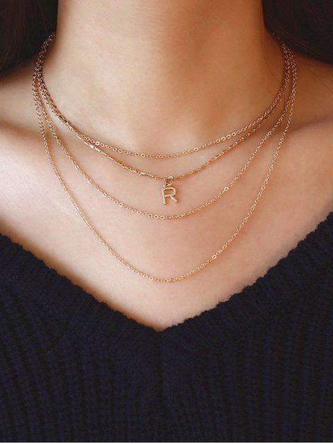 Collier en forme de lettre R - Or  Mobile