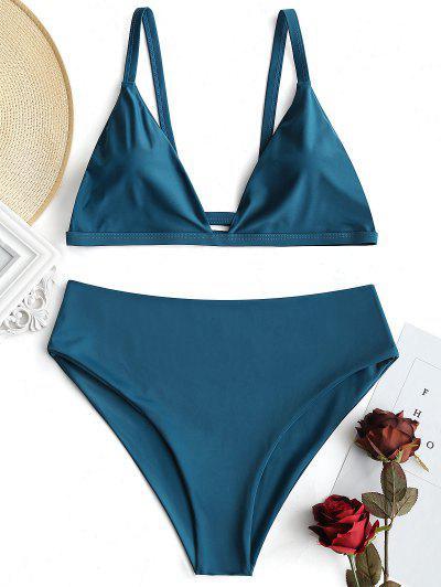 Conjunto De Bikini Acolchado De Talle Alto Y Talla Grande - 4xl eb41ad164051