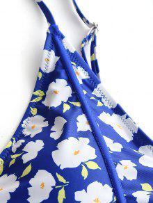 De Ba Azul De Talla Grande De Corte Traje Floral 3xl o qwtdz