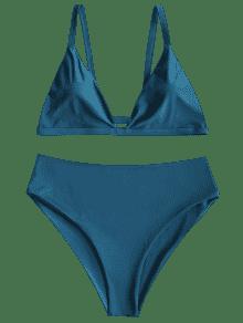 Conjunto Grande Bikini Y 3xl Acolchado Talle De Talla Alto De R8rqRw