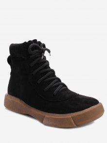 الدانتيل يصل الأحذية المسطحة - أسود 39