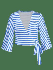 Gran o 3xl Rayas Tama A Y Blanco Azul Abrigo De znTtXqwf