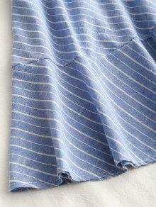 Minifalda Criss Striped Claro Azul Back L Ruffle Cross qEqwx4rH