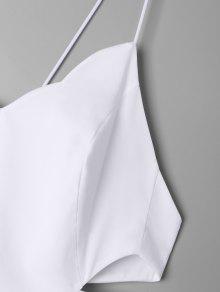 De Oscilaci S 243;n Vestido Festoneado Blanco Lateral ZCz7Ow