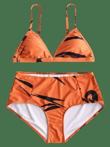 3xl Naranja Plus Bikini Size De Impreso Conjunto YqCv7