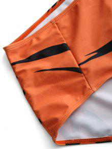 Conjunto Bikini Plus Size Naranja De Impreso 3xl TTP1xrR