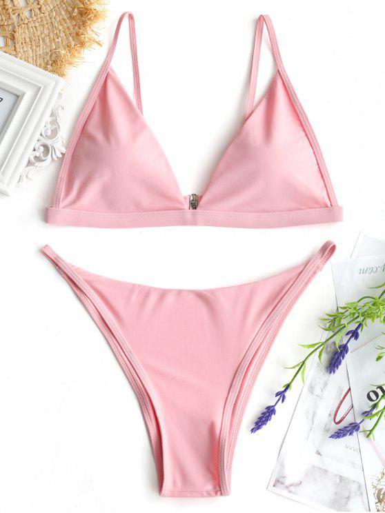 Bikini Con G E Scollatura A Goccia - Rosa superficiale M