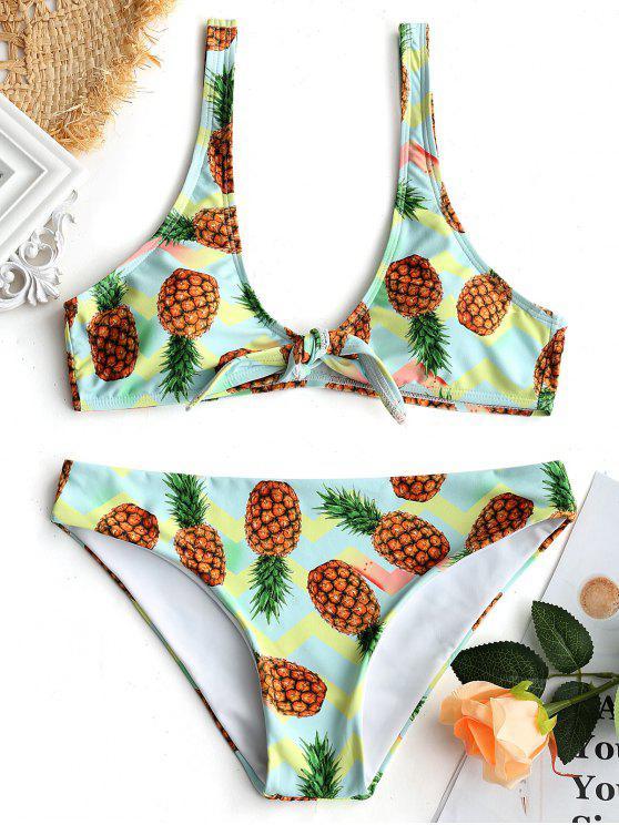 Bikini Imbottito Con Stampa Di Ananas - colori misti M